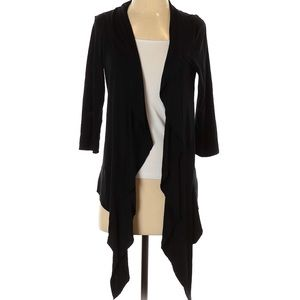 Mossimo | solid black draped waterfall cardigan